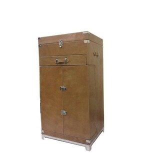 Kamana Leather Bar Cabinet