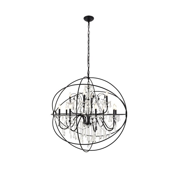 Clifton 12 - Light Candle Style Globe Chandelier By House Of Hampton