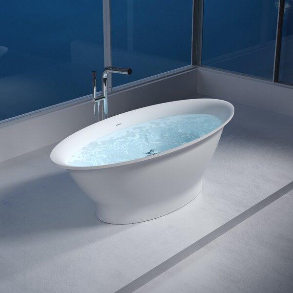 75 x 75 Freestanding Soaking Bathtub by InFurniture