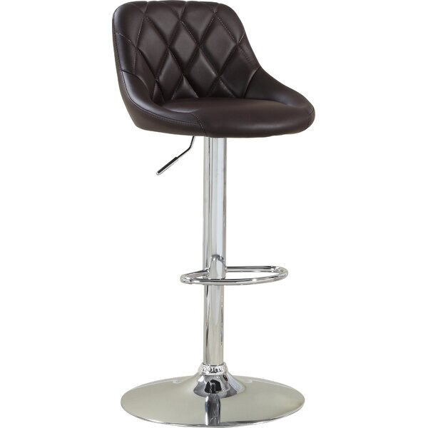 Adjustable Height Swivel Bar Stool by Hokku Designs