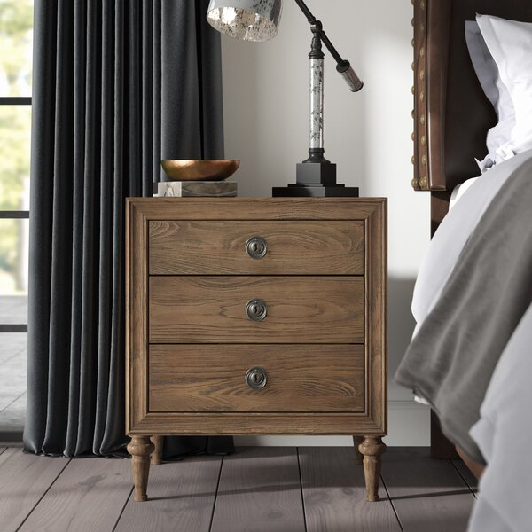 Knollwood 3 Drawer Nightstand by Greyleigh