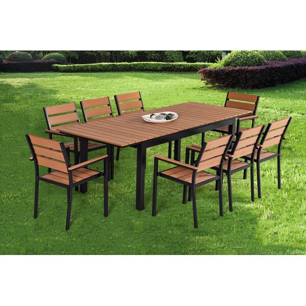 Caitlynne 9 Piece Dining Set by Brayden Studio