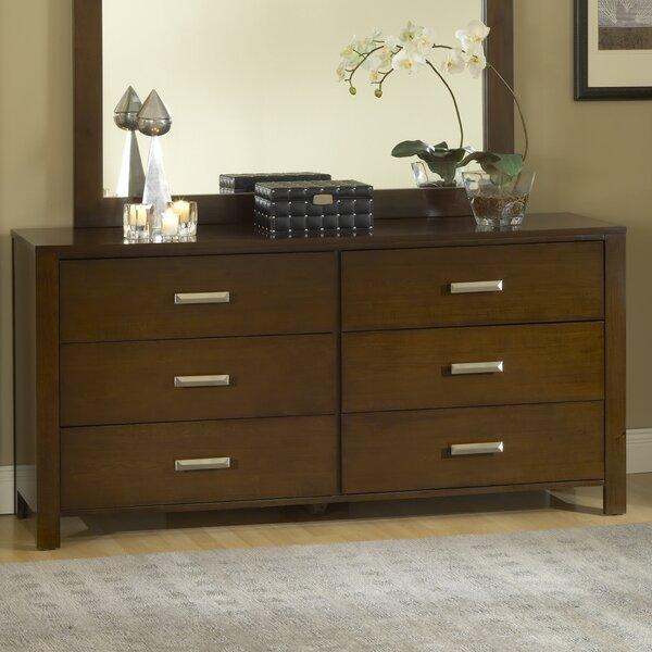 Gareth 6 Drawer Double Dresser by Mistana