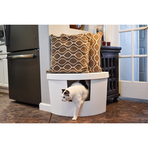 Corner Kitty Modern Litter Box by Kitangle, LLC