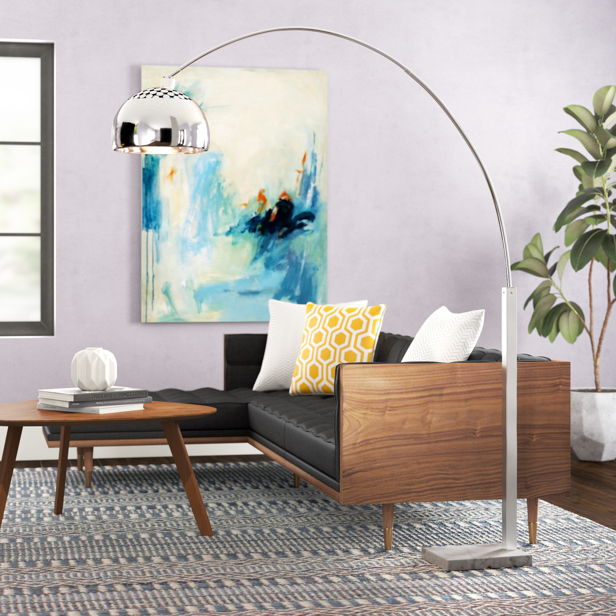 Image of: Corrigan Studio Claireville 70 Arched Floor Lamp Reviews Wayfair Ca