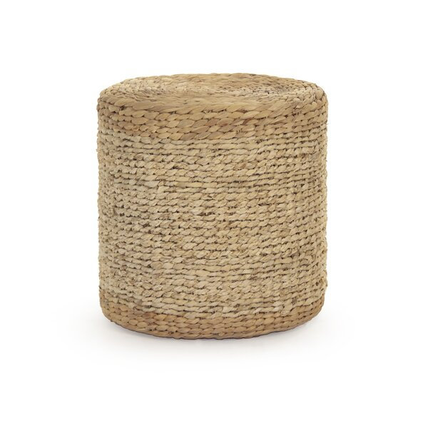 Ahlers Woven Cylinder Accent Stool by August Grove