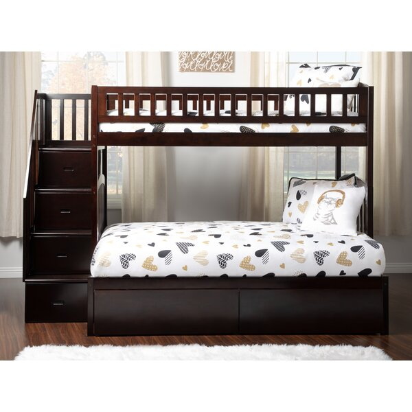 Salem Staircase Twin over Full Bed With Drawers by Harriet Bee