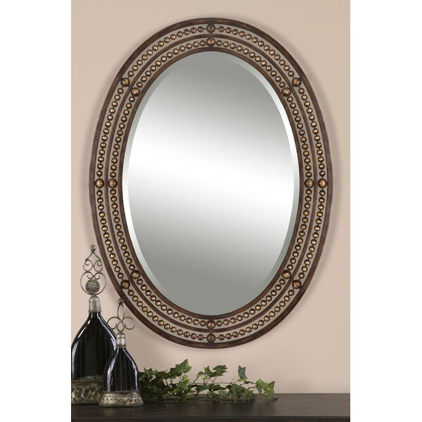 Leeper Oval Wall Mirror by World Menagerie