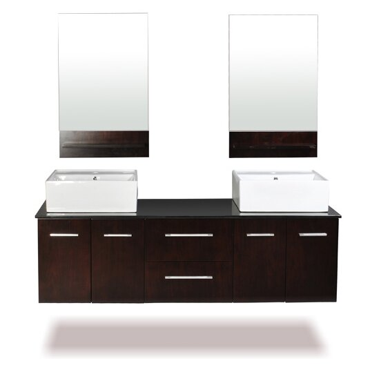 Skyline 60 Double Bathroom Vanity Set with Mirror by Belmont Decor