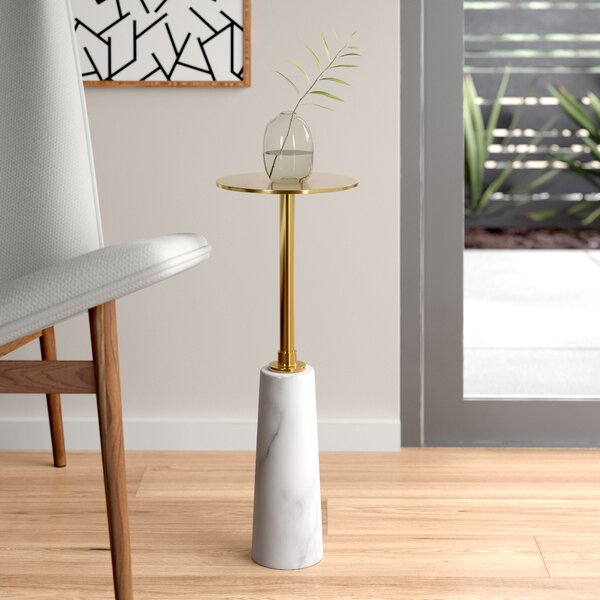 Beck Pedestal End Table By Interlude