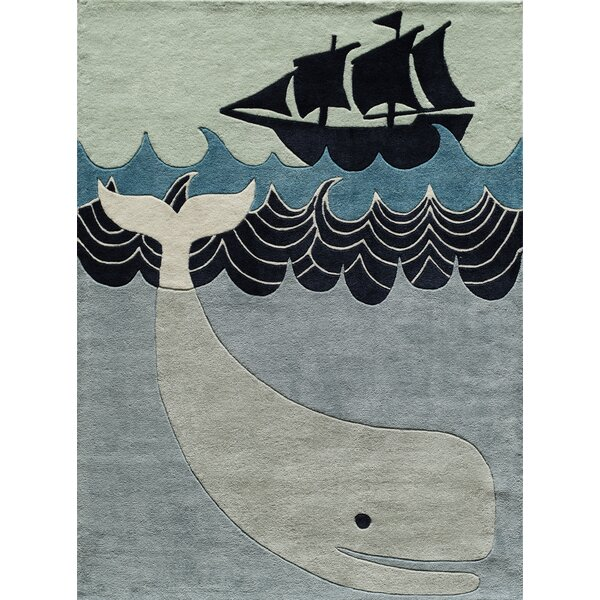 Johnnie Hand-Tufted Blue/Gray Kids Rug by Viv + Rae