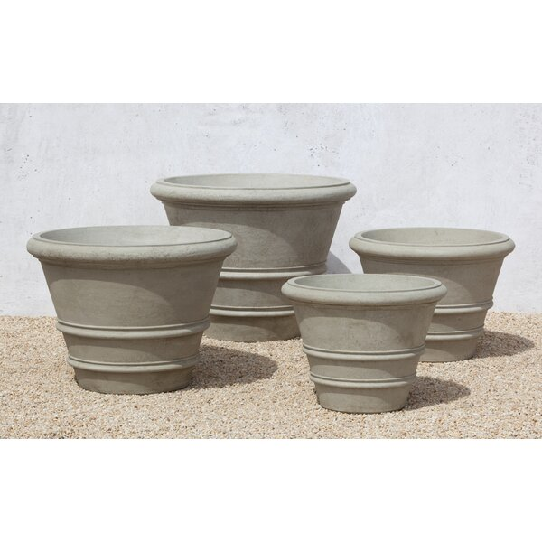 Concrete Pot Planter by Campania International