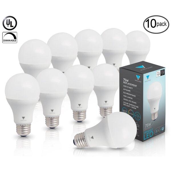 12W E26/Medium (Standard) LED Light Bulb (Set of 10) by TriGlow