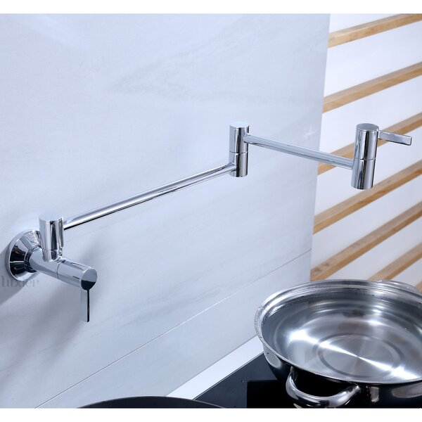 Single Hole Two Handles Wall Mount Kitchen Pot Filler