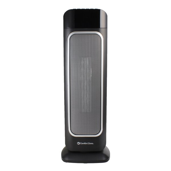 1,500 Watt Electric Fan Tower Heater With Remote By Comfort Zone