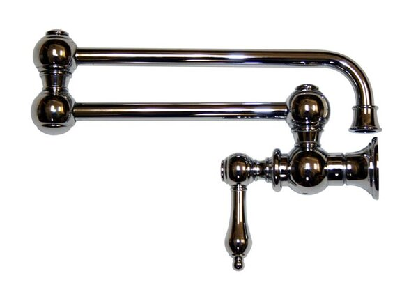 Vintage III Single Handle Wall Mount Pot Filler by Whitehaus Collection