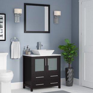 modern single bathroom vanity. Save To Idea Board. Wade Logan. Karson Square 30\ Modern Single Bathroom Vanity