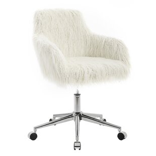 Faux Fur White Desk Chairs You Ll Love Wayfair