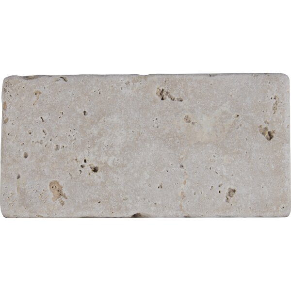 Tuscany Classic 3 x 6 Travertine Subway Tile in Tumbled Beige by MSI