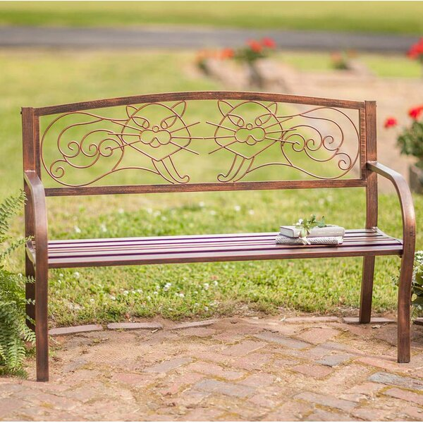 Cat Metal Garden Bench by Wind & Weather Wind & Weather