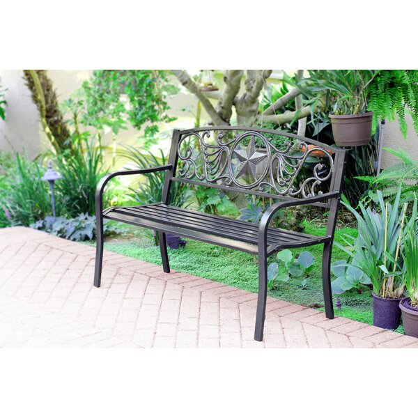 Dorazio Steel Park Bench by Charlton Home