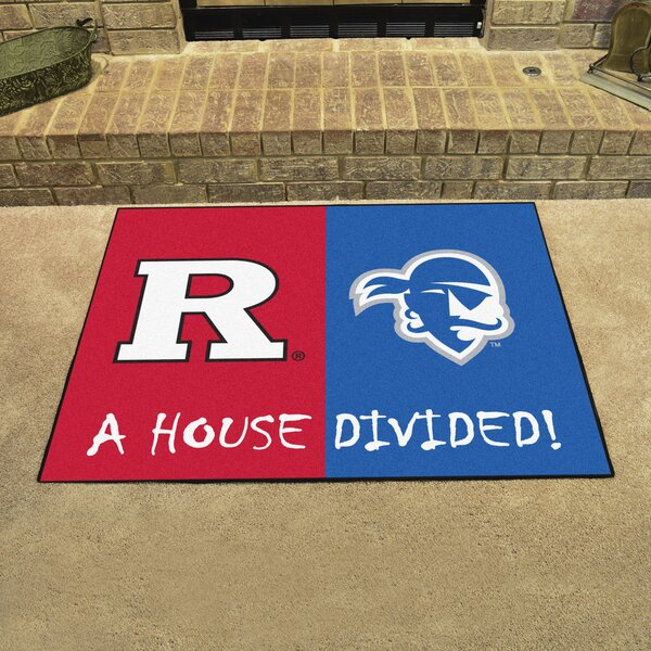 House Divided - Rutgers / Seton Hall Doormat by FANMATS