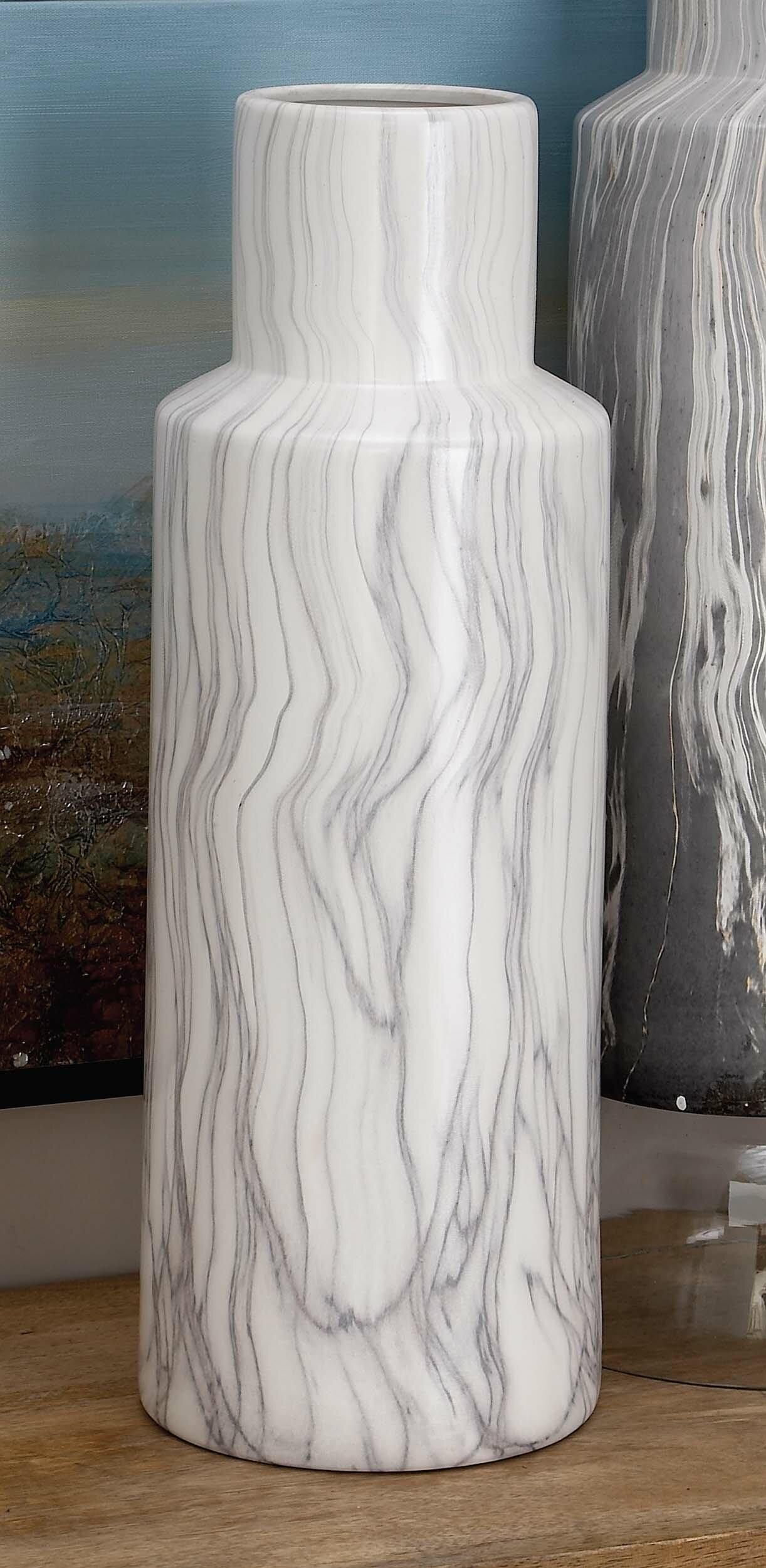 Cole grey ceramic marble floor vase reviews wayfair reviewsmspy