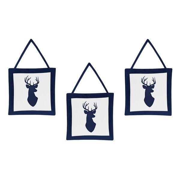 Woodland Deer Hanging Art (Set of 3) by Sweet Jojo Designs