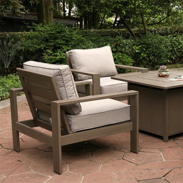 Daly Motion Patio Chair with Cushions by Modern Rustic Interiors