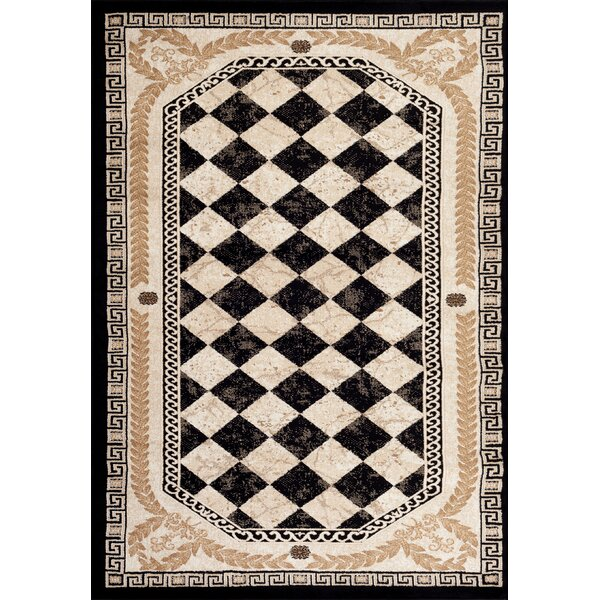 Greek Black Area Rug by Persian-rugs