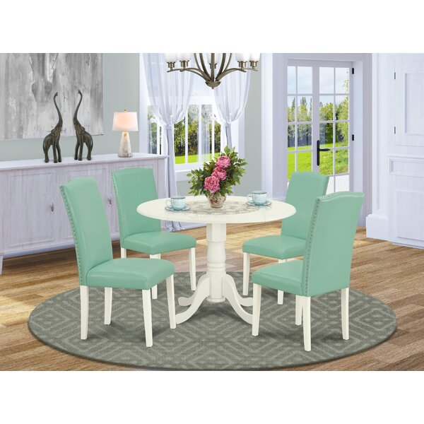 Robbin 5 Piece Drop Leaf Solid Wood Dining Set By Alcott Hill