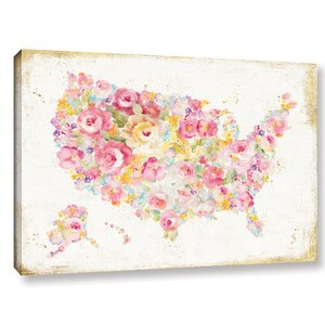 'Midsummer USA' Painting Print on Wrapped Canvas by Bloomsbury Market