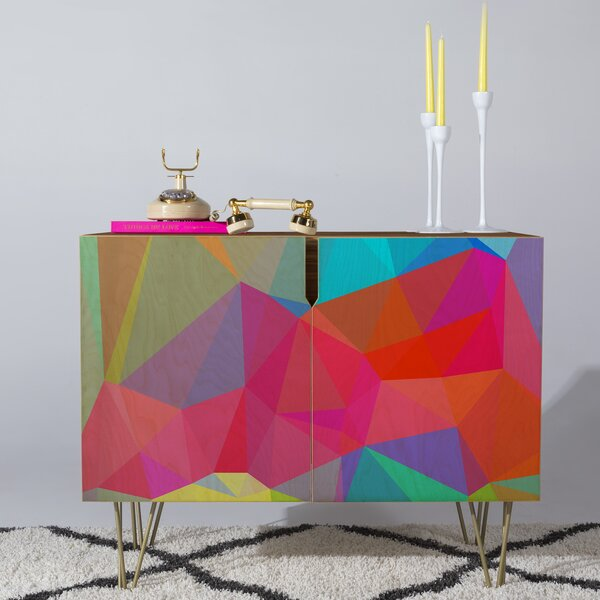Three of the Possessed Credenza by Deny Designs Deny Designs