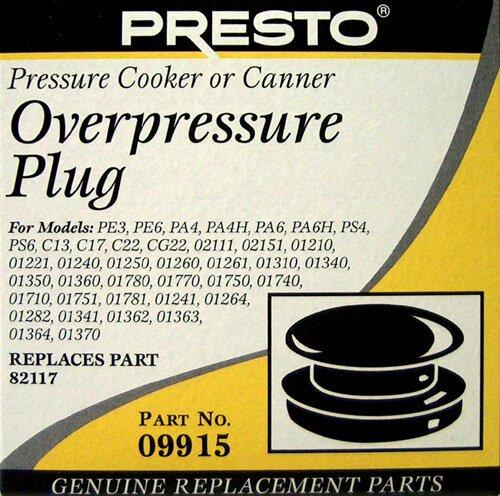 Overpressure Plug by Presto