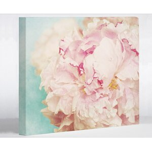 'Delicate Peony' Graphic Art on Canvas by One Bella Casa