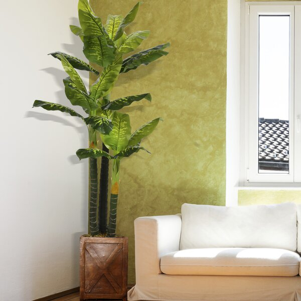 Real Touch Floor Evergreen Tree in Planter by Bayou Breeze
