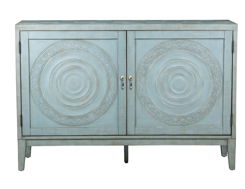 Accent cabinets chests joss main withers embossed 2 door cabinet geotapseo Gallery