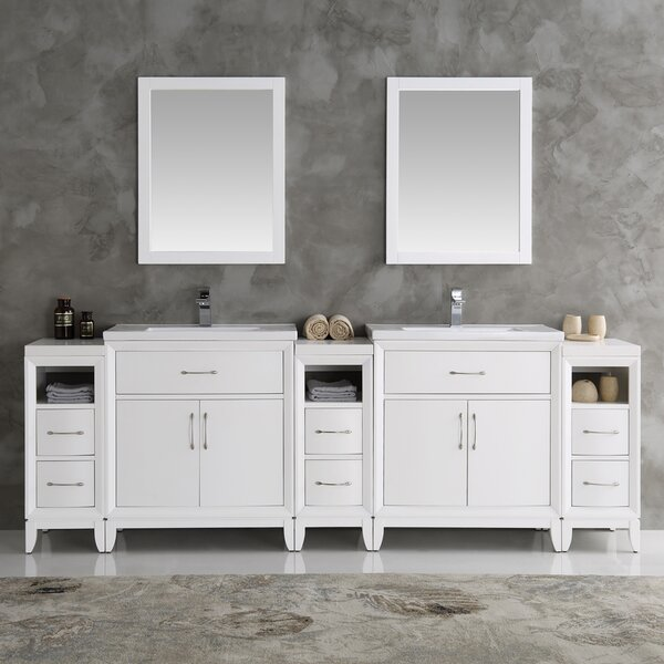 Cambridge 96 Double Traditional Bathroom Vanity Set with Mirror