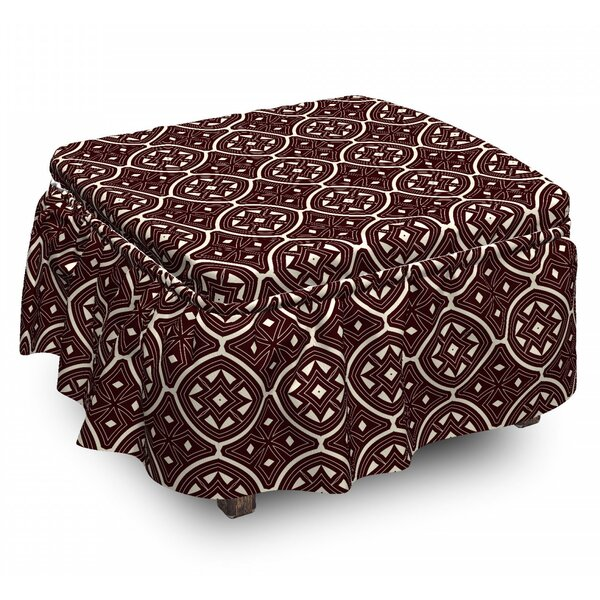 Ornament Old Ottoman Slipcover (Set Of 2) By East Urban Home