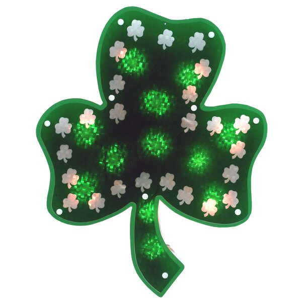 Glazed 10 Light Shamrock Sculpture Lighting by The Holiday Aisle