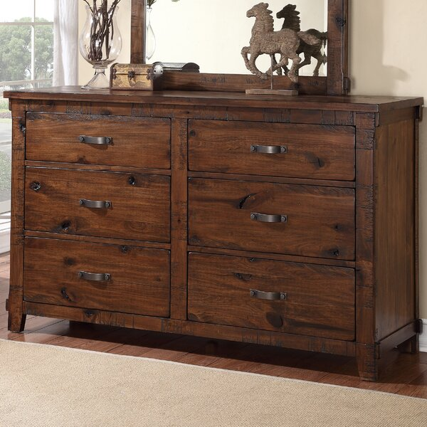 Camas 6 Drawer Double Dresser by Loon Peak