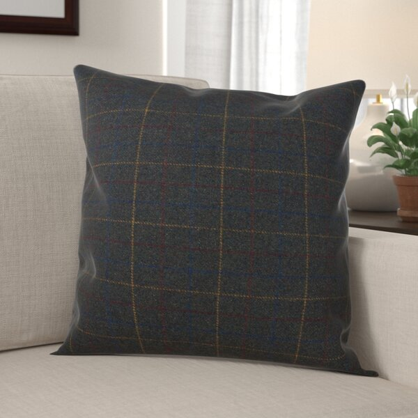 Brielle Plaid Design Throw Pillow by Millwood Pines