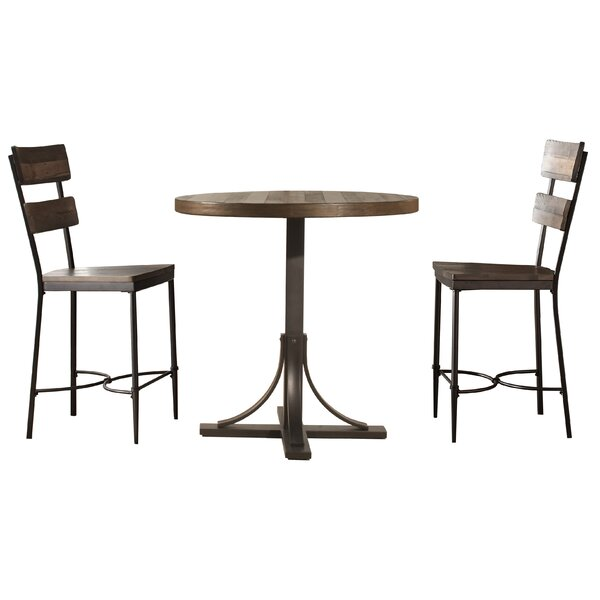 Putney 3 Piece Counter Height Breakfast Nook Dining Set by Gracie Oaks