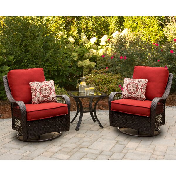 Luisa Patio Garden 3 Piece Seating Group with Cushions
