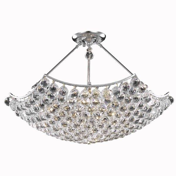 Troas 8 - Light Lantern Geometric Chandelier with Crystal Accents by Orren Ellis Orren Ellis