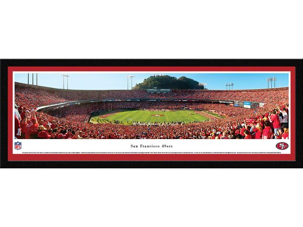 NFL San Francisco 49Ers - 50 Yard Line Framed Photographic Print by Blakeway Worldwide Panoramas, Inc