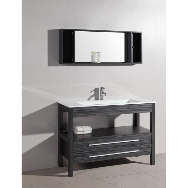 Luz 48 Single Bathroom Vanity Set with Mirror by Bosconi