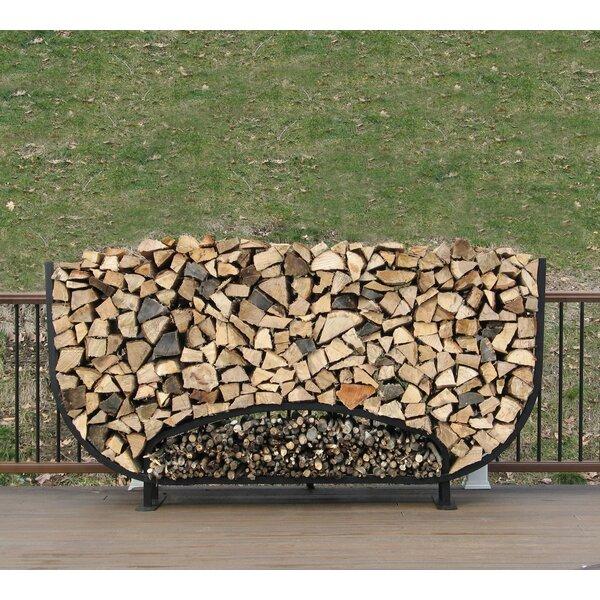 8' Oval Firewood Log Rack With Kindling Kit By ShelterIt