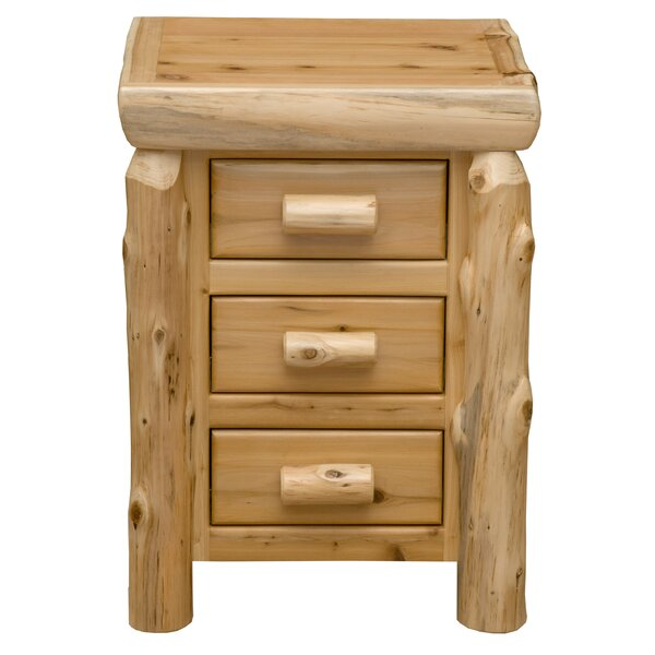Cedar 3 Drawer Nightstand by Fireside Lodge