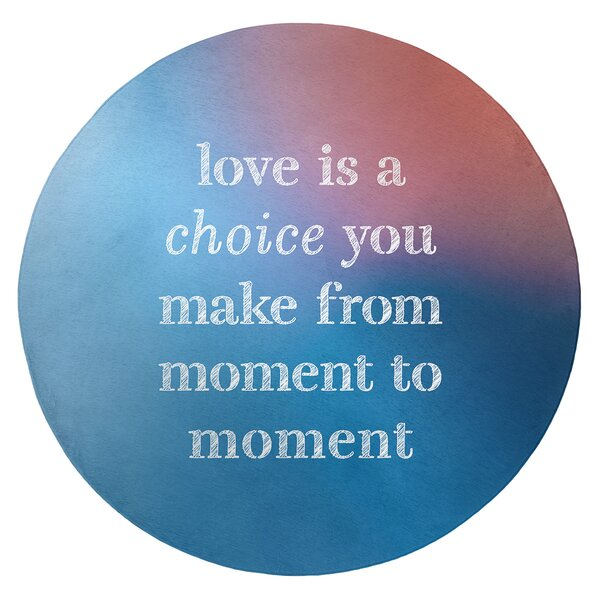 Multicolor Background Love Is A Choice Quote Poly Chenille Rug